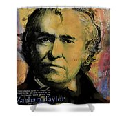 Zachary Taylor Shower Curtain by Corporate Art Task Force