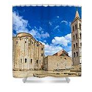 Zadar Cathedral Famous Landmark Of Croatia Shower Curtain