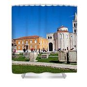 Zadar Historic Architecture Shower Curtain