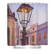 Zagreb Gaslight - Croatia Shower Curtain
