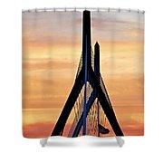 Zakim Bridge In Boston Shower Curtain by Elena Elisseeva