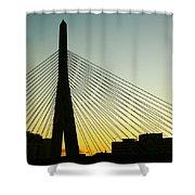 Zakim Bridge Silhouette Shower Curtain