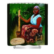 Zambia Woman Shower Curtain