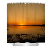 Zambian Sunrise Shower Curtain