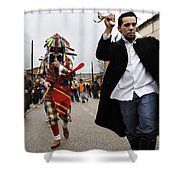 Zangarron Mascarade 4 Shower Curtain