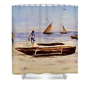 Zanzibar Forzani Beach Shower Curtain