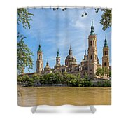 Zaragoza, Zaragoza Province, Aragon Shower Curtain