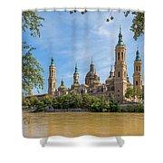 Zaragoza, Zaragoza Province, Aragon Shower Curtain