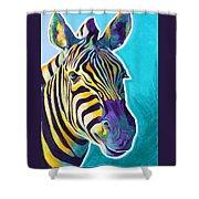 Zebra - Sunrise Shower Curtain