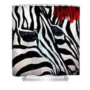 Zebra Couple Shower Curtain