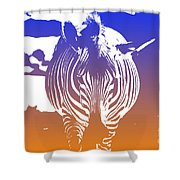 Zebra Crossing V6 Shower Curtain