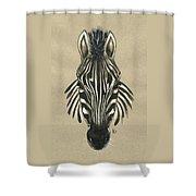 Zebra Front Shower Curtain