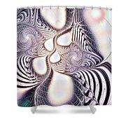 Zebra Phantasm Shower Curtain