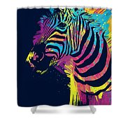 Zebra Splatters Shower Curtain