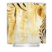 Zebra Up Closer Shower Curtain