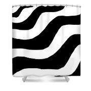 Zebra Waves Shower Curtain
