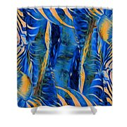 Zebras Abstracted Shower Curtain