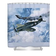 Zemke's Thunder Shower Curtain
