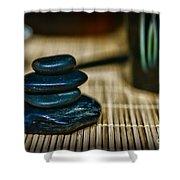 Zen Balance Is Key Shower Curtain