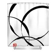 Zen Circles 2 Shower Curtain by Hakon Soreide