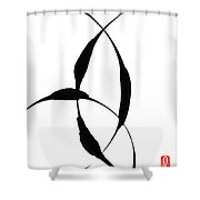 Zen Circles 5 Shower Curtain