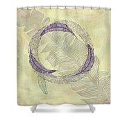 Zen Feather Circle I I I Shower Curtain