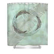 Zen Feather Circle I I Shower Curtain