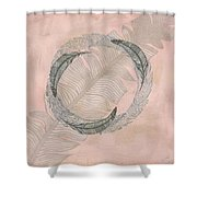 Zen Feather Circle I Shower Curtain