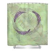 Zen Feather Circle I V Shower Curtain