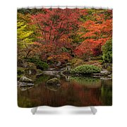 Zen Garden Reflected Shower Curtain