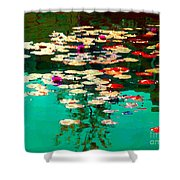 Zen Garden Water Lilies Pond Serenity And Beauty Lily Pads At The Lake Waterscene Art Carole Spandau Shower Curtain