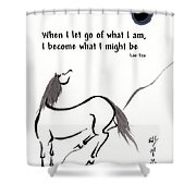 Zen Horse Releasing Shower Curtain