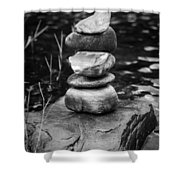 Zen River Vii Shower Curtain