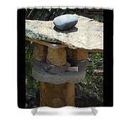 Zen Rocks In Balance Shower Curtain