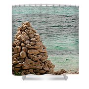 Zen Rocks In Paradise Shower Curtain