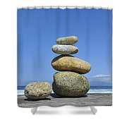 Zen Stones I Shower Curtain