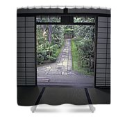 Zen Tea House Dream Shower Curtain by Daniel Hagerman