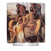Zenobia Found By Shepherds Shower Curtain