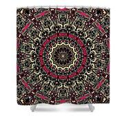 Zentangle No. 7 Kaleidoscope Shower Curtain