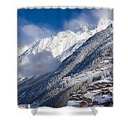 Zermatt Mountains Shower Curtain by Brian Jannsen