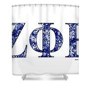 Zeta Phi Beta - White Shower Curtain
