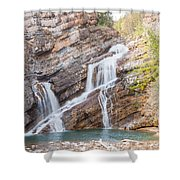 Zigzag Waterfall Shower Curtain