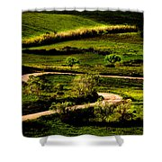 Zigzags Of A Path Shower Curtain