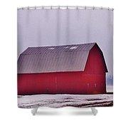Zink Rd Farm 1 In Winter White Shower Curtain