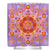 Zinna Flower Mandala Shower Curtain