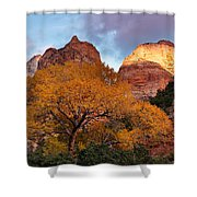 Zion Cliffs Autumn Shower Curtain