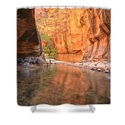 Zion Narrows Bend Shower Curtain