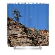 Zion National Park Moonrise Shower Curtain
