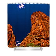 Zion National Park Oil On Canvas Shower Curtain