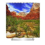 Zion Park Canyon Shower Curtain